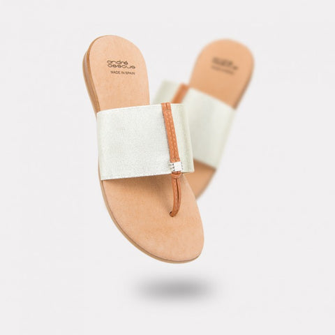 Andre Assous - Nice AA Thong Sandal in Platino - Seaside Soles