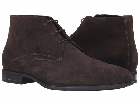 Aquatalia Ace Dark Brown Waterproof Suede Chukka Boot Men's Shoes Seaside Soles