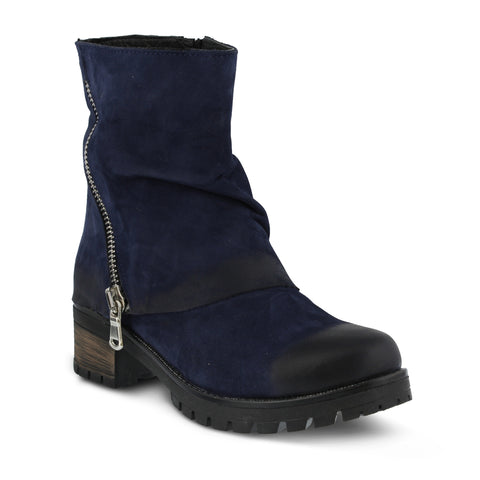 Azura - Kecak Navy Zip Boot - Seaside Soles