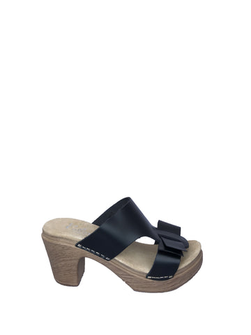 Calou - Linn Clog Sandals Black Leather - Seaside Soles