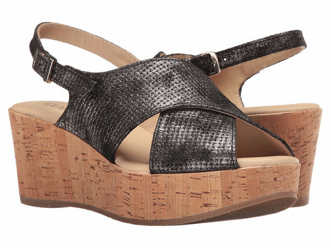 Cordani - Delight Pelle Nero Wedge Sandal - Seaside Soles