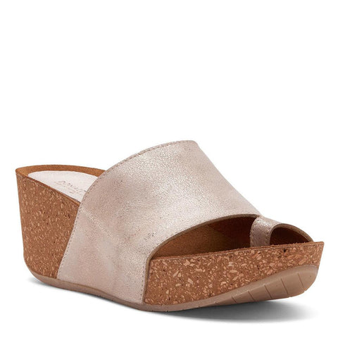 Donald J Pliner - Ginie Tumbled Leather Platform Wedge Sandal