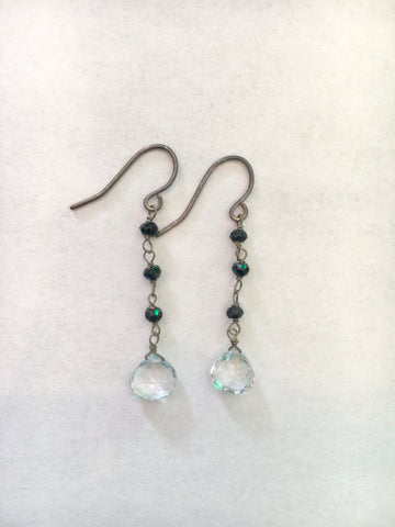 Elizabeth B - Crystal Dangle Earrings - Seaside Soles