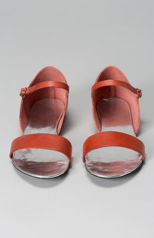 Elk Prague Sandal in Tangerine Leather - Seaside Soles