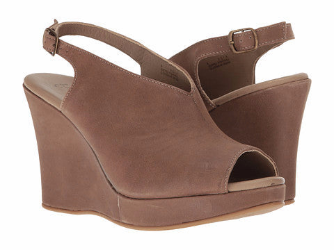 Five Worlds by Cordani - Amiga Taupe Wedge Sandal - Seaside Soles