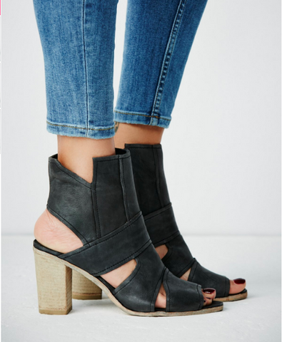 Free People - Effie Block Heel - Seaside Soles