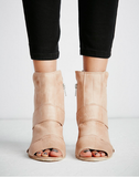 Free People - Effie Blush Block Heel - Seaside Soles