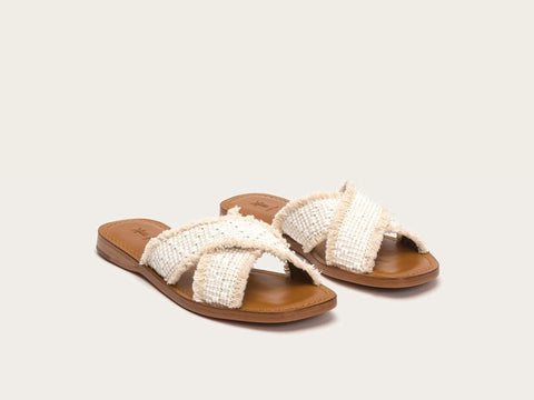 Frye - Hayley Frayed Slide Sandal - Seaside Soles