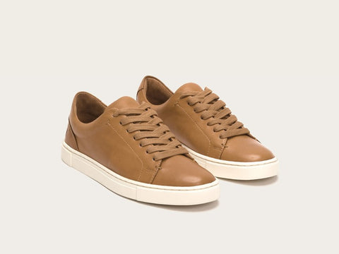 Frye - Ivy Low Lace Sneaker in Tan - Seaside Soles