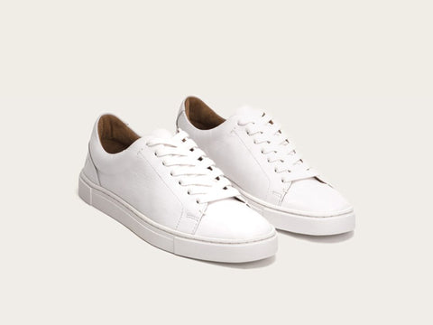 Frye - Ivy Low Lace Sneaker in White - Seaside Soles