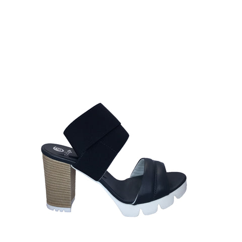 Gidigio - Navy Stretch Platform Sandal - Seaside Soles