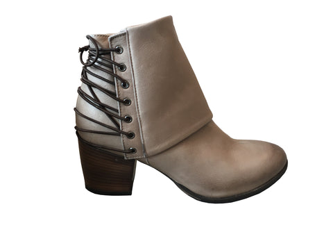 Gidigio - Sauvage Taupe Back Lace Bootie - Seaside Soles