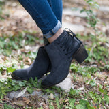 Klub Nico - Berta Bootie in Blue Ink Suede - Seaside Soles