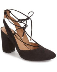 Klub Nico - Ruby Lace-Up Pump in Stone Nubuck - Seaside Soles