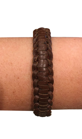 Lynne Curtin - Braided Brown Bracelet - Seaside Soles