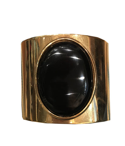 Lynne Curtin - Oval Black Stone Cuff - Seaside Soles