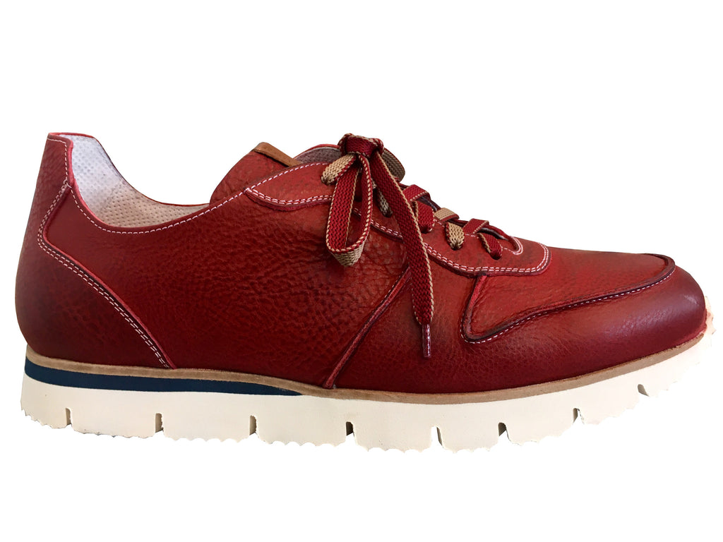 Ron White - Men's Hugh Sneaker in Red Nubuck - Seaside Soles
