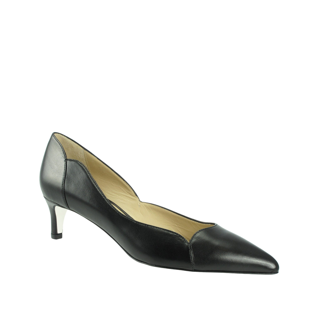 Ron White - Meleina Weatherproof Leather Pump in Onyx - Seaside Soles