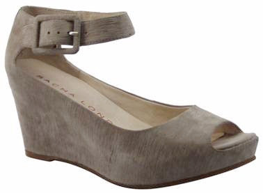 Sacha London - Verona Peep Toe Wedge Sandal in Taupe - Seaside Soles
