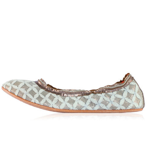 Ticket to Timbuktu - Blur Cream Ballet Flat - Seaside Soles