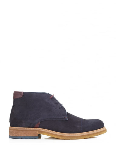 Ted Baker - Tomlin Chukka Boots Dark Blue - Seaside Soles