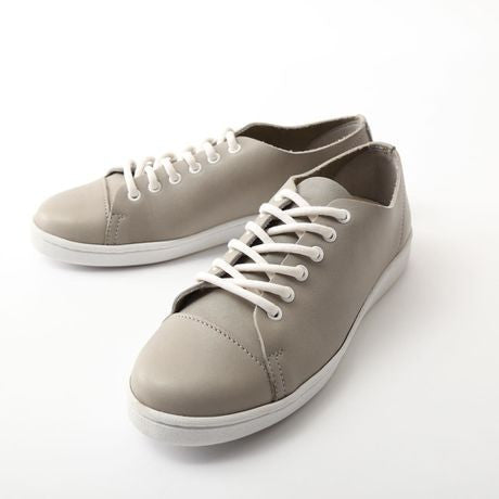 U-Dot Toyko Grey Leather Sneakers Womens Shoes