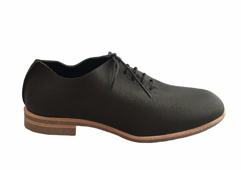 U-Dot - Lace-up Oxford Flat Black - Seaside Soles