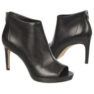 Via Spiga Nessa Black Nappa Leather Stiletto Bootie - Seaside Soles