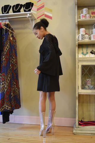 Black Bellsleeve Dress