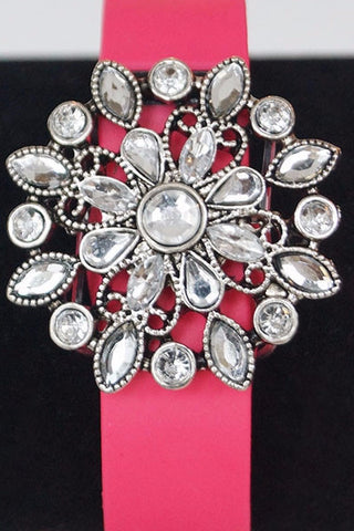 Crystal Flower Fitfashions Charm