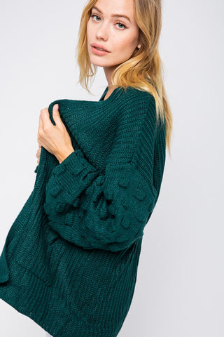Hunter Green Cardigan Sweater