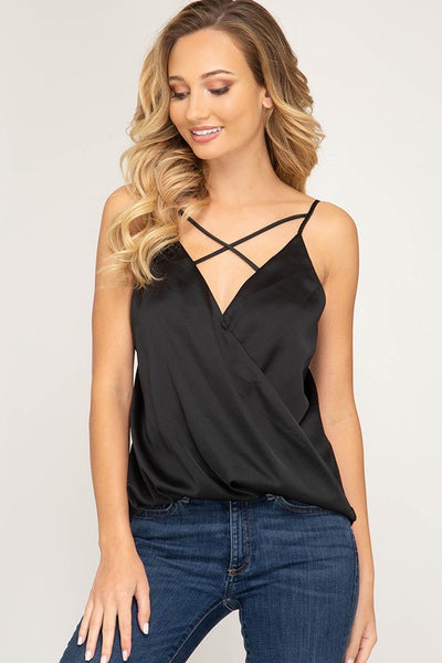 Strappy Front Satin Cami