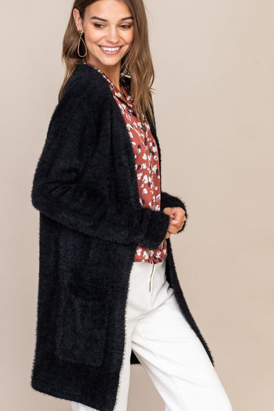 Black Fuzzy Cardigan