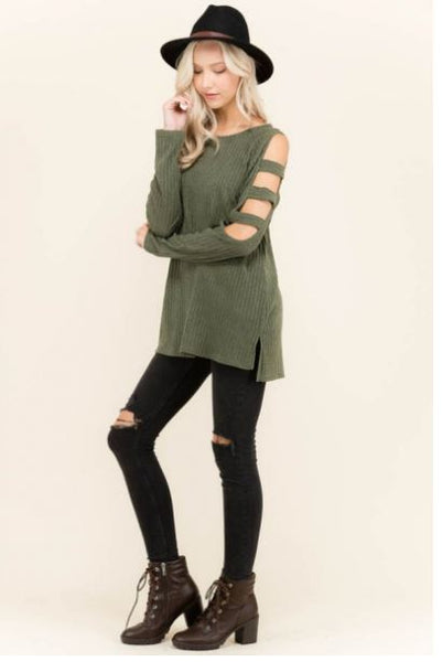 Cute Cutout Sleeves Top