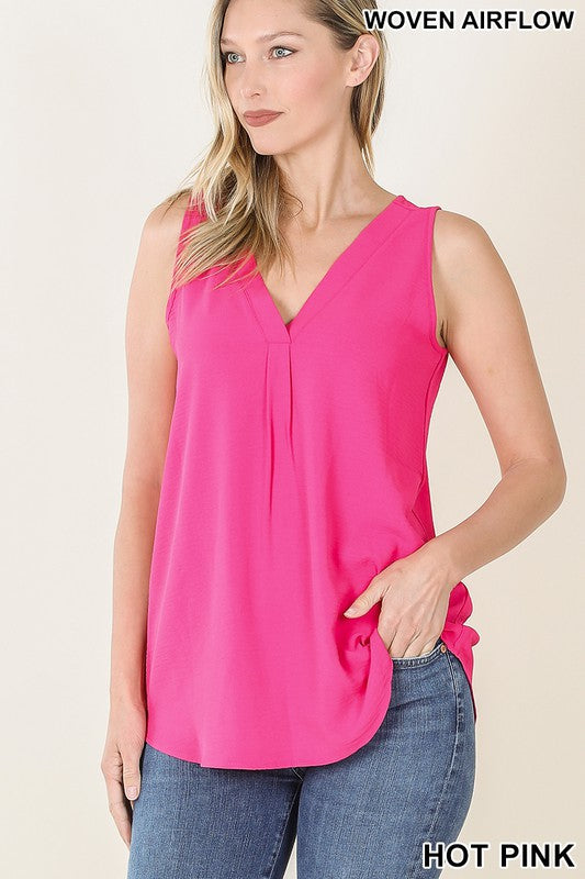Pink Woven Top