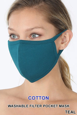 Teal Reusable Face Mask