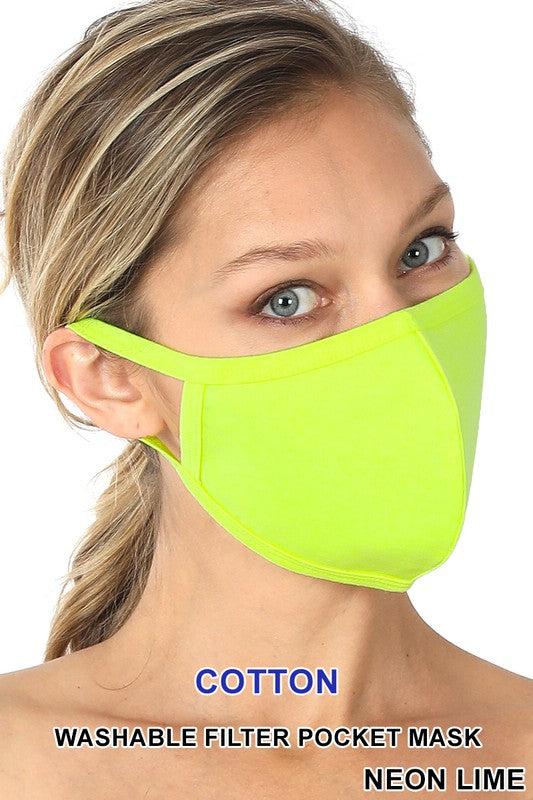 Neon Lime Reusable Face Mask