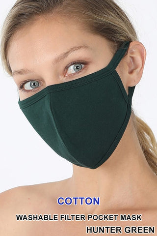 Hunter Green Reusable Face Mask