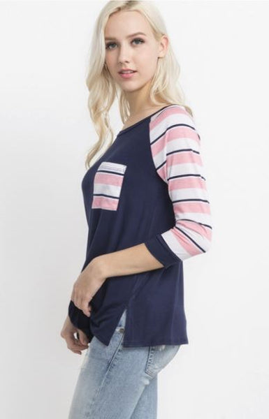 Stripes and Raglan Top