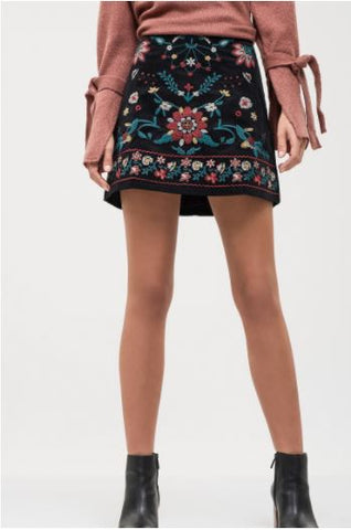 Dare to Wear Embroidered Skirt