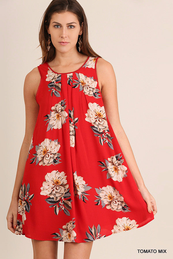 Ready in Red Floral Dress