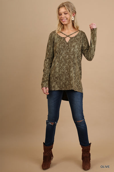 Two Toned Tunic Top
