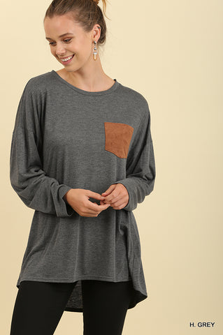 Suede Pocket Top