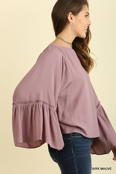 Mauve Madness Bell Sleeve Top