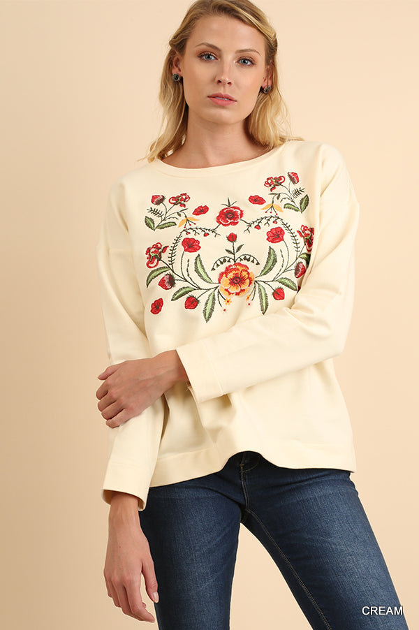 83c6644dc97 Creamy Crew Embroidered Top