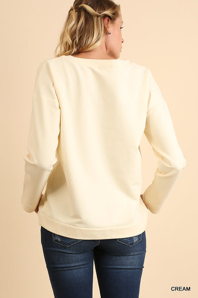 Creamy Crew Embroidered Top