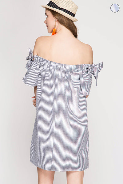 Bow Beauty Off Shoulder Dress