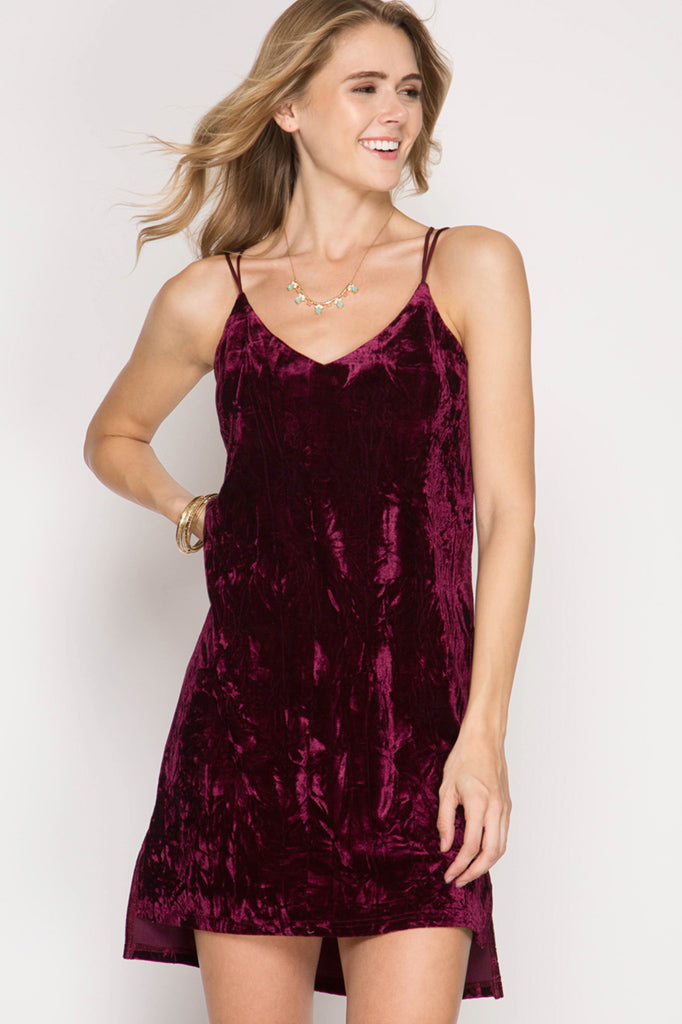 Crazy About Crushed Velvet Dress