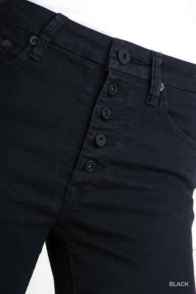 Umgee Black Button Fly Jeans