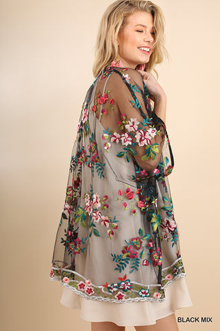 All Over Embroidered Kimono